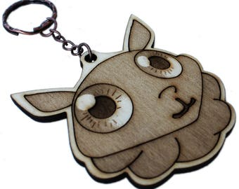 Mooncalf keychain laser name