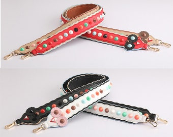 Bag Straps 90cm * 4cm real leather Removable Purse Strap Interchangeable Strap Replacement Handle Chain WD008