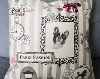 Cushion cover 40 X 40 paris fashion