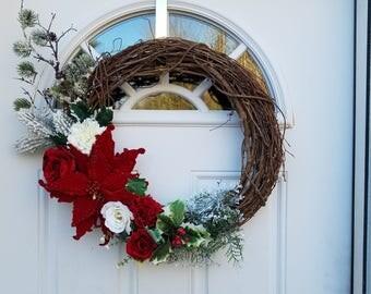"Beautiful 18"" Grapevine wreath Holiday wreath Christmas wreath"