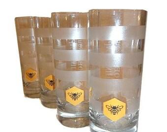 Jack Daniels Tennessee Honey Highball Glasses S/4