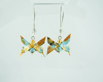 Paper butterflies washi origami earrings