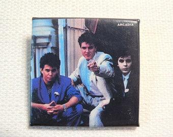 Vintage 80s Arcadia (Duran Duran / Roger Taylor /Simon Le Bon / Nick Rhodes) Pin / Button / Badge