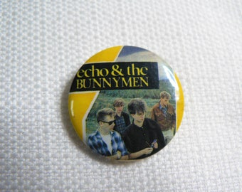 Vintage 80s Echo and the Bunnymen - Pin / Button / Badge