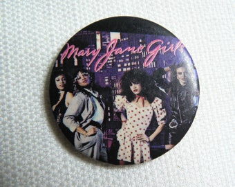 Vintage 80s Mary Jane Girls - Self Titled Debut Album (1983) - Pin / Button / Badge
