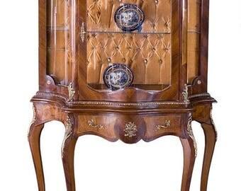 Baroque glass Cabinet antique Rococo style wardrobe Louis XV MoVi0698