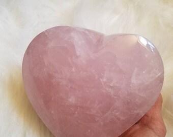 Large Rose Quartz Heart Self Standing valentines day