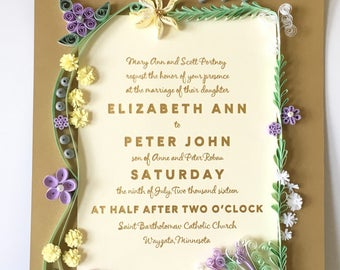 Personalized Wedding Gift for Couple - Customized Wedding Keepsake - Gift from Bridesmaid - 1st anniversary gift - Great Wedding Gift