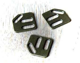 Clasp spends leather bronze metal