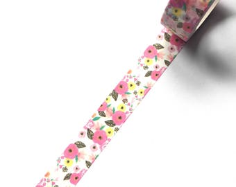 Pretty pink floral washi tape