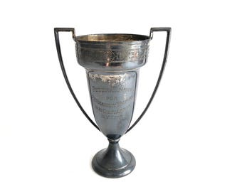 Loving Cup Trophy - Vintage 1931 Permanent Waving Convention NYC Trophy - Hairdresser - Prop - Vintage Trophy - Collectible