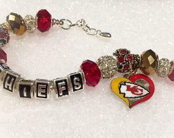 KANSAS CITY CHIEFS Inspired Jewelry