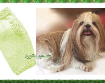 Vintage dog Pullover Knitting pattern in PDF instant download version