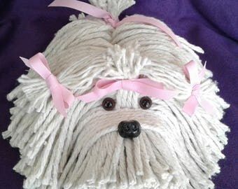 Mop Puppy Dog - Havanese - Shih Tzu - Maltese - Lhasa Apso - Bichon - White Dog - Schnauzer - Coton De Tulear - Tibetan Terrier - Lowchen