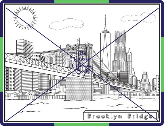 brooklyn bridge coloring pages - photo#23