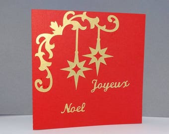 Curly North Star Christmas card