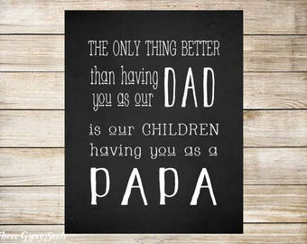 PRINTABLE Father's Day Gift For Dad The Only Thing Better Than Having You As Our Dad Gift for Dad Father's Day Gift for Grandpa