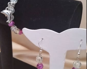 Hand made bracelet and ear-ring set