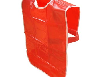 Sleeveless Childrens Paint Tabard Bright Red Washable Artists Paint Popover Choose Small, Medium, Large or Extra Large Sizes