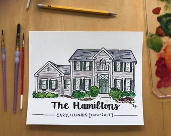 Watercolor Home Painting