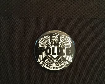 Vintage 80's The Police band Pin/Button