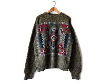 Vintage southwestern pullover | men's M
