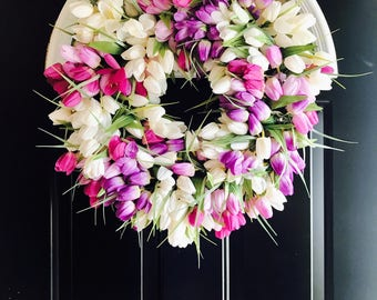 THE Purple Tulip Wreath