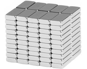 10 x 5 x 2 mm Neodymium Rare Earth Block Magnets N48 (100 Pack)