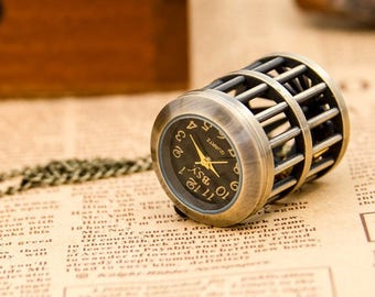 1 Pocket Watch Necklace Watch Classic Watch Wedding Party Gifts Bridcage Watch -C024