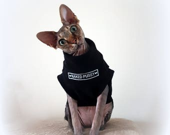 NAKED, cat jumper for a Sphynx cat clothes, jumper, sweater, designer cat clothes, Sphynx cat clothes