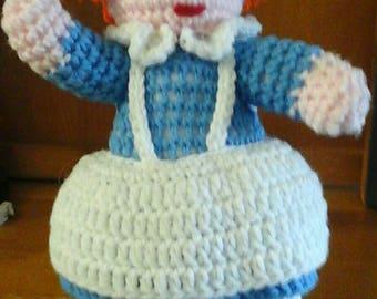 Knit Raggedy Ann Doll  (Handmade )