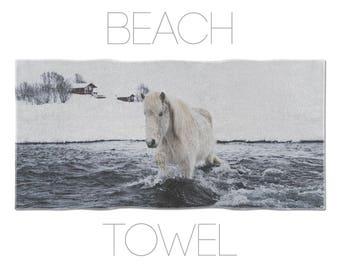 Icelandic Horse Large Towel, Animal Lover Gift, Bath Accessories, Bathroom Linen, Horse Towel, Gym Towels