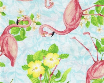 Pink Flamingo Fabric,  Wilmington Prints Fabric, Flamingos, Fabric by the Yard, sewing fabric