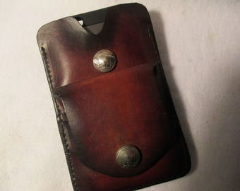 """Cell phone case and wallet for a cell 6-1/4"""" tall X 3-1/4"""" wide X 3/8"""" thick."""