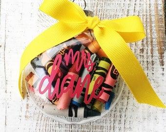 Teacher Gift. Teacher Christmas Gift. Personalized Teacher Ornament, Gift ideas, Teacher Appreciation, Christmas Gift, Ornament