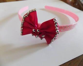 headband pink and Fuchsia