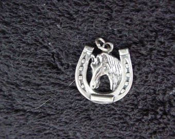Horseshoe Charm Sterling Silver Free shipping