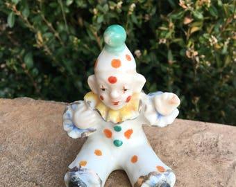 Ceramic Clown figurine, Japan