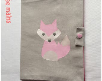 Health book in gray cotton with a matching Fox