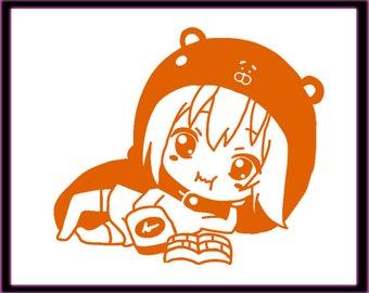 Himouto! Umaru-chan Decal | Anime | Umaru | Sticker | Vinyl | Window | Car | Laptop | Macbook | decal | kawaii