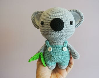Koala Crochet Koala Amigurumi - Handmade Crochet Amigurumi Toy Doll - Koala Bear - Koala Crochet - Amigurumi Koala