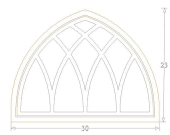 """23"""" Tall Castle Cathedral Window Mirror"""