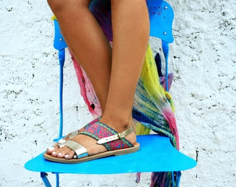 Genuine Leather Bohemian Sandal : Skiathos