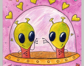 Out-Of-This-World Love - A Monstrous Love Fun Print