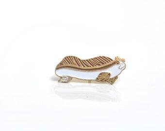 Eel, fish pin, fish brooch, Animal pin, enamel pin, wildlife pin, fish enamel pin, sea enamel pin, pin badge, backpack pin, lapel pin