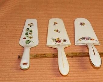 3 ceramic cake spatulas