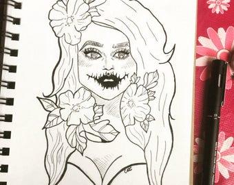 Halloween Ink Sketch