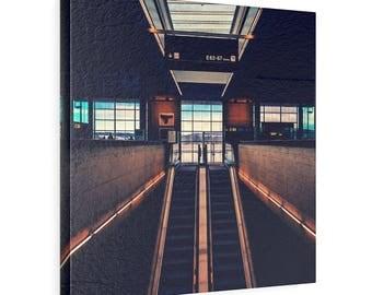 Subway Station Lobby Photo on Canvas