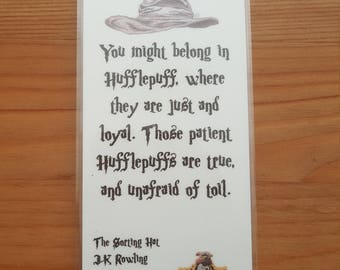 Harry Potter Hufflepuff Sorting Hat Bookmark