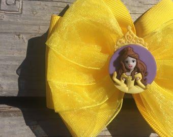Belle Portrait Disney Hair Bow